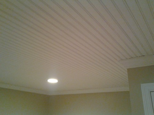 Beadboard Ceiling Finished 2 Finally Putting Up A