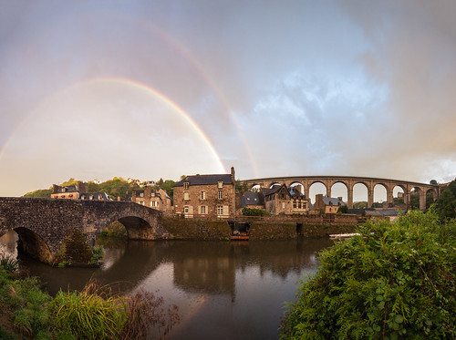 Port of Dinan Double Rainbow Panorama | by Old Styggiti