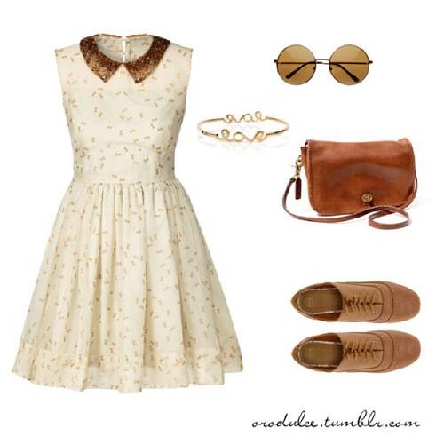 Polyvore Orodulce Vintage Dress Flat Shoulder Bag