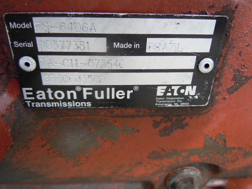 Eaton fuller 6 speed manual transmission