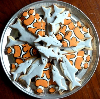 Fish & Shark Cookies for a Birthday | by kelleyhart