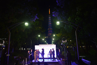UN Women Executive Director Michelle Bachelet participates in the Tokyo Tower's Light-up event organized by the Cabinet Office's Gender Equality Bureau as part of the ending violence against women week | by UN Women Gallery