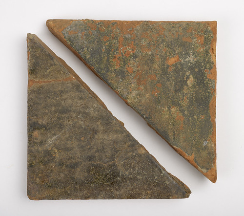 Fired Clay Floor Tiles From Kent S Moat 14th Century Flickr
