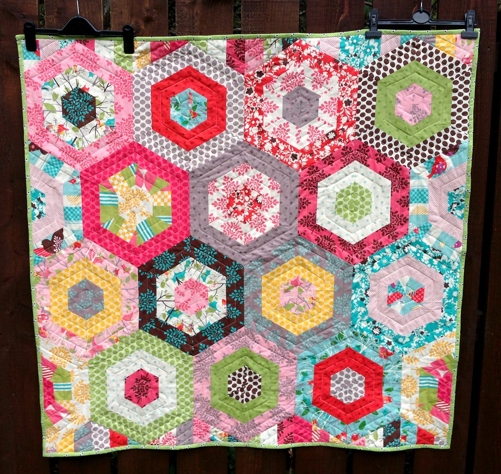 Modern Hexagon Baby Quilt Baby Quilt Or Playmat