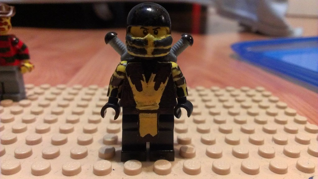 Lego Mortal Kombat Scorpion | Saberwulf 12 | Flickr  Lego Mortal Kom...