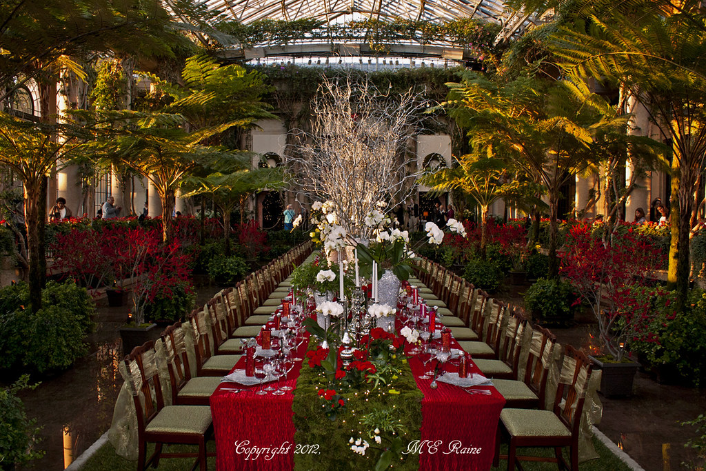 Christmas Dinner Setting More Display S At Longwood Gar