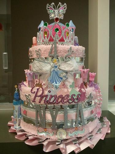 Birthday Princess Towel Cake Cinderella Baby Biz