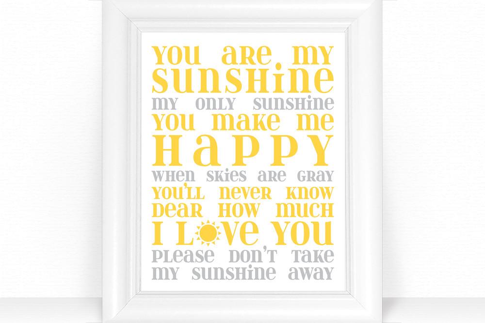 You are My Sunshine Nursery Decor / Subway Art Print - Bab… | Flickr