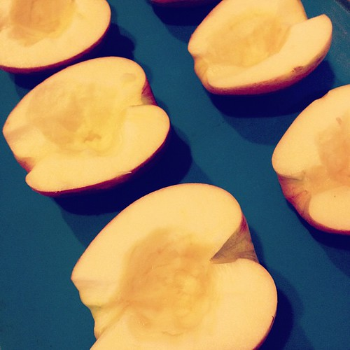 Making baked apple halves | by Anne-Marie Nichols