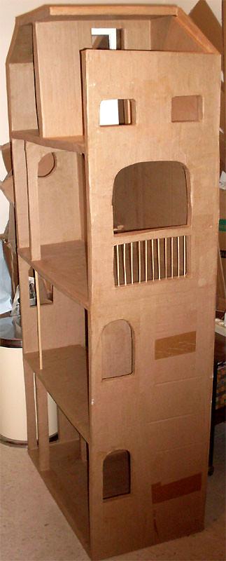 Barbie Cardboard Dollhouse 2011 2012 4 Floors House With