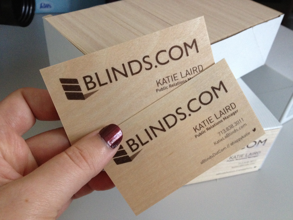 New wooden business cards for Blinds.com | Loving my awesome… | Flickr