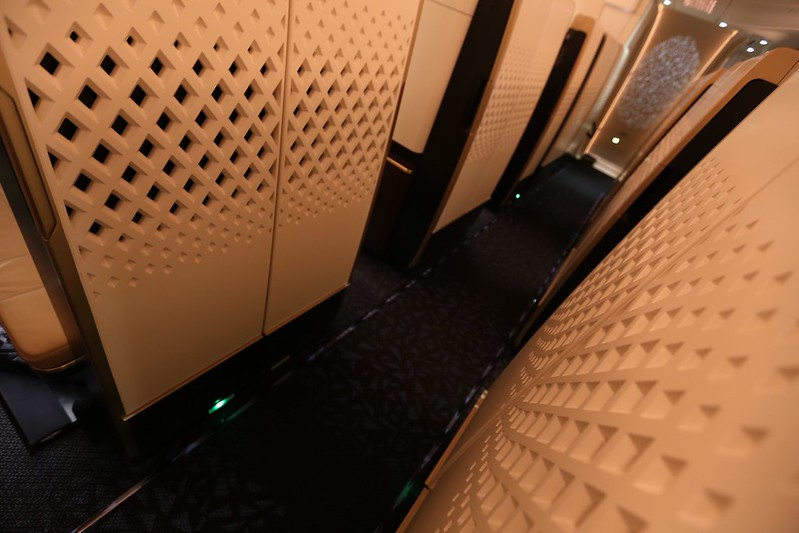 Etihad A380 hallway First Class Apartment