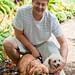 Bogdan Fiedur portrait with dogs