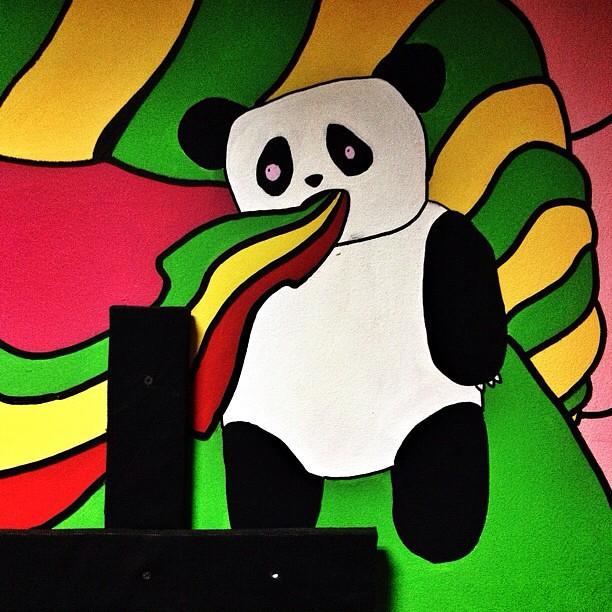 Cool graffiti in the ElectroSoulSystem's studio. #panda #s ...