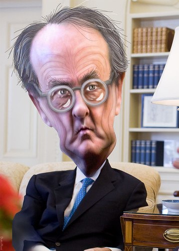 Erskine Bowles - Caricature | by DonkeyHotey