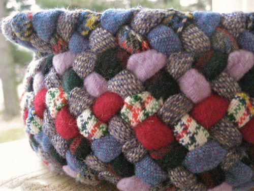 Colorful Wool Braided Basket from recycled wool | by Mrs Ginther