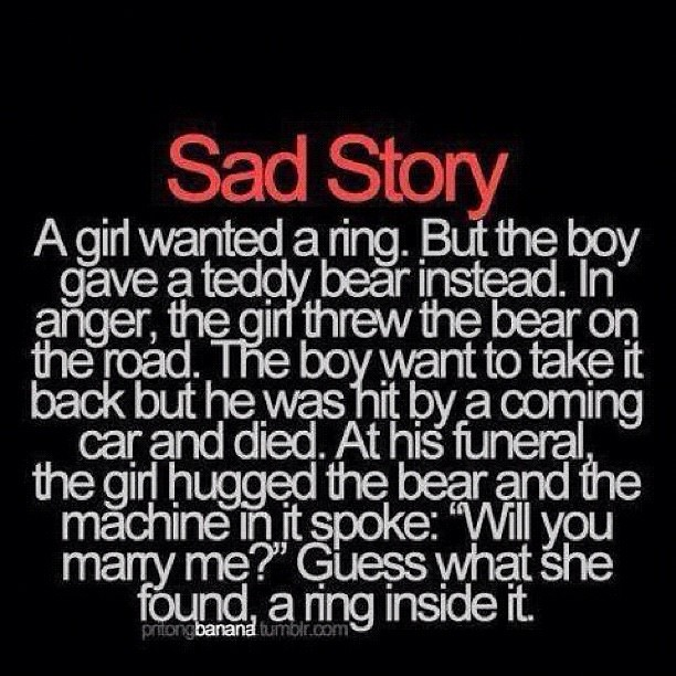 Incredibly Sad Quotes That Will Give You: #sad #story #wedding #funeral #dead #boy #girl #love #enga