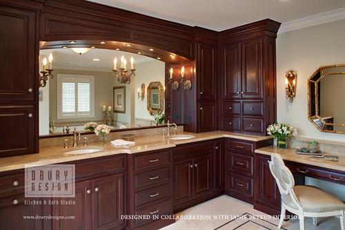 Traditional bath designed in collaboration with janie - Drury design kitchen bath studio ...