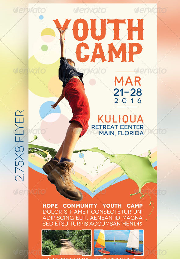 Youth Camp Mini Flyer Template  The Youth Camp Mini Flyer T  Flickr