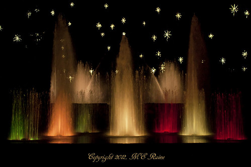 Christmas Fountain Light Show At Longwood Gardens Pa Flickr