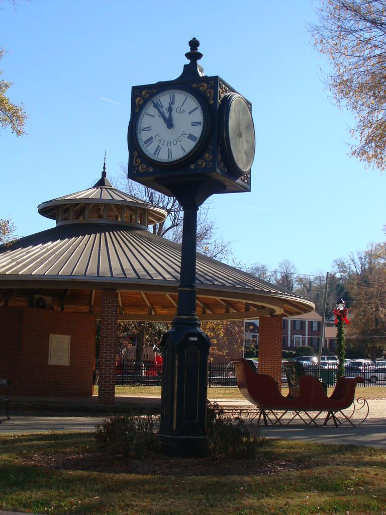 City Park Clock In Calhoun Ga