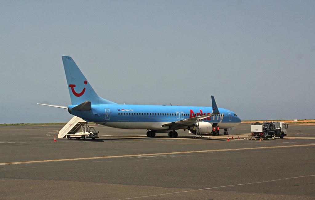 ArkeFly plane. Airport...