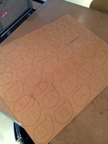 Laser cut cork sheets from Autodesk 123d make | by andrewsharmon