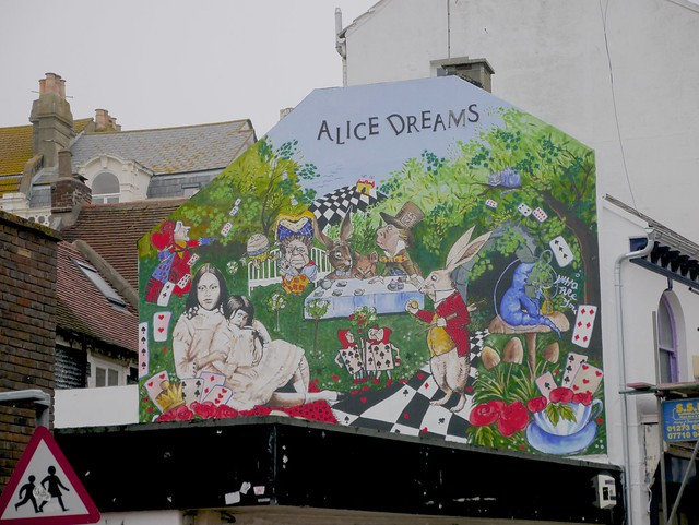 Alice in wonderland mural brighton flickr photo sharing for Alice in wonderland mural