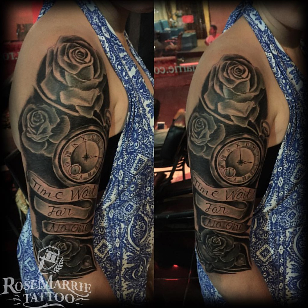 Time Waits For No One Tattoo Do By Indra Pocketwatch Ros Flickr