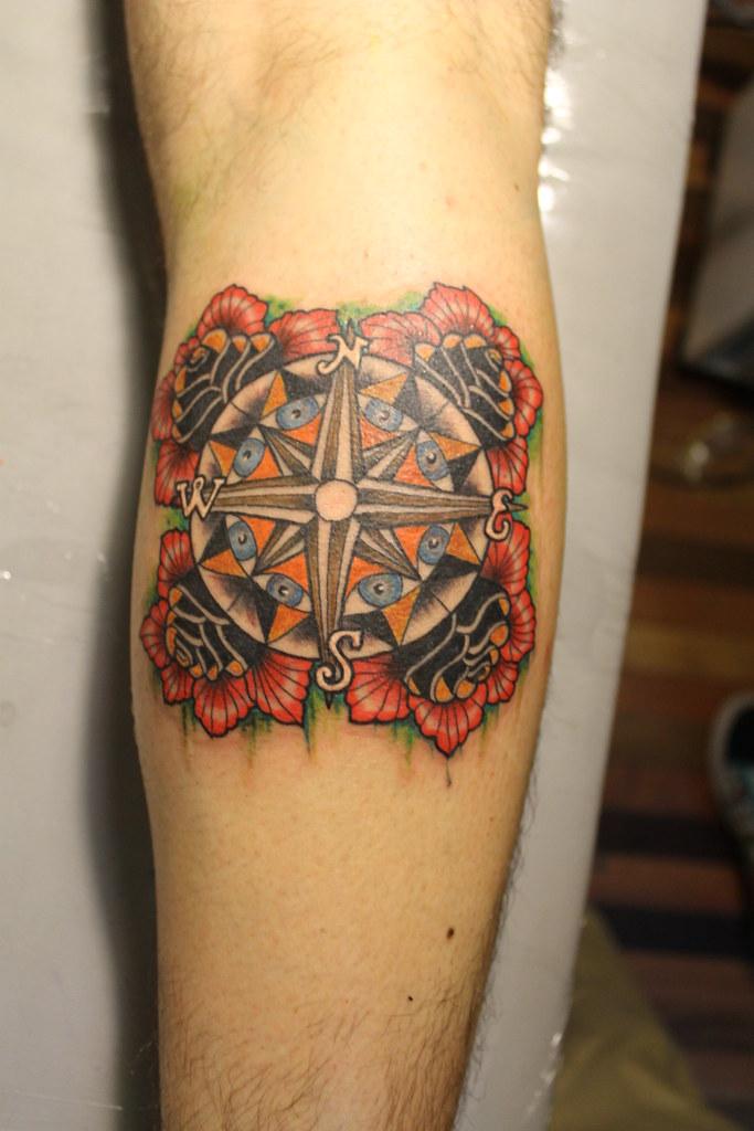 Tattoo Rosa De Los Vientos Arte Tattoo De Cristopher Mendez Flickr