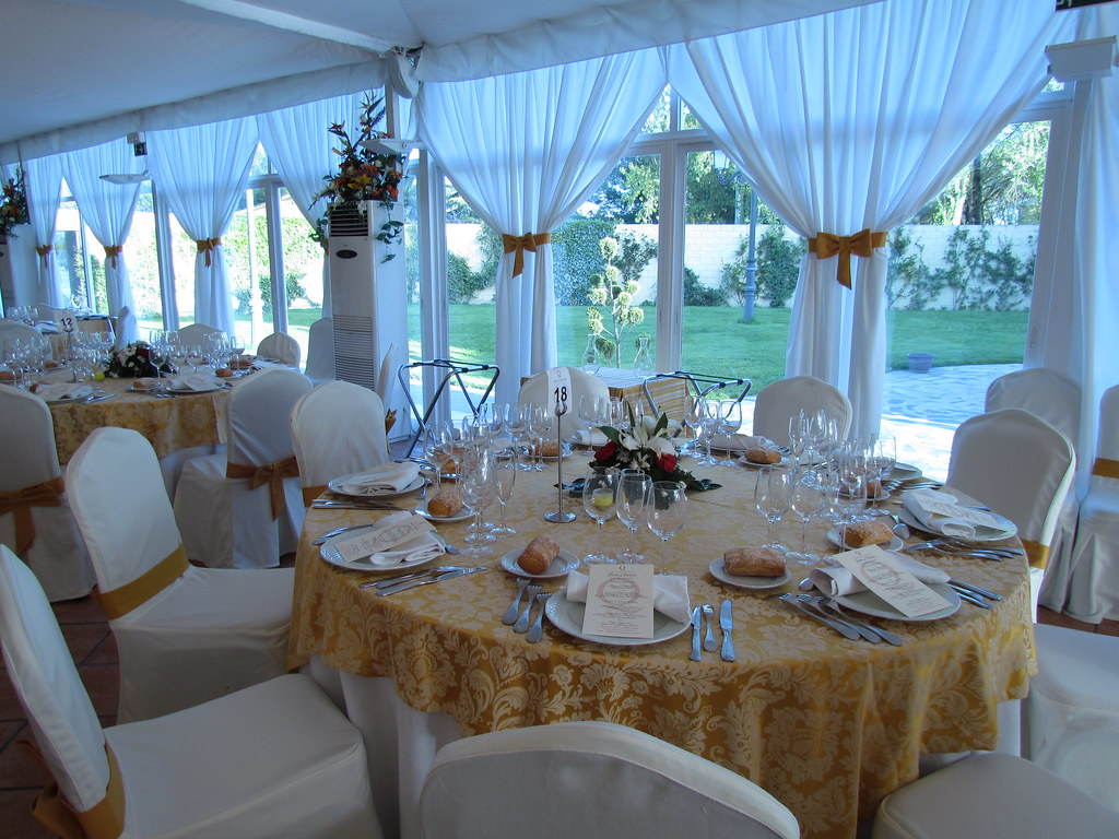 Ejemplo de mesa montada mesa decorada para los eventos y c flickr - Mesas decoradas para bodas ...