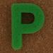 Sponge Letter P