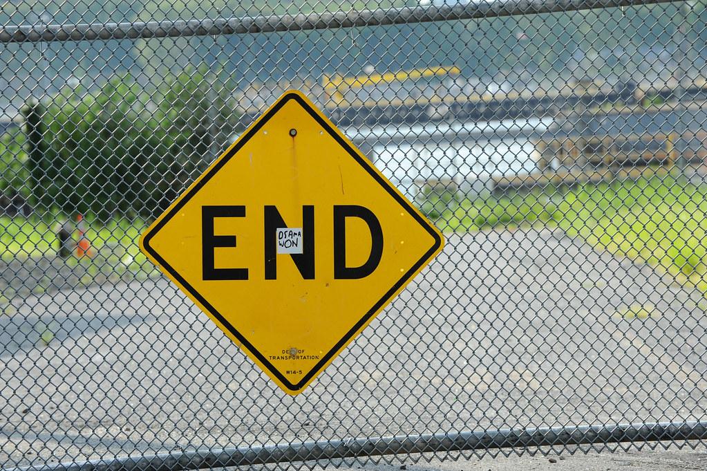 عبارات تستخدم كلمة نهاية في اللغة الانجليزية