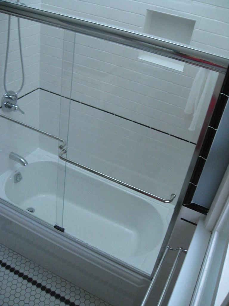 Kohler Memoirs cast iron Tub, Shicker Shower Doors | Flickr