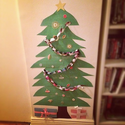 Christmas tree made of construction paper. | by toomanycommas