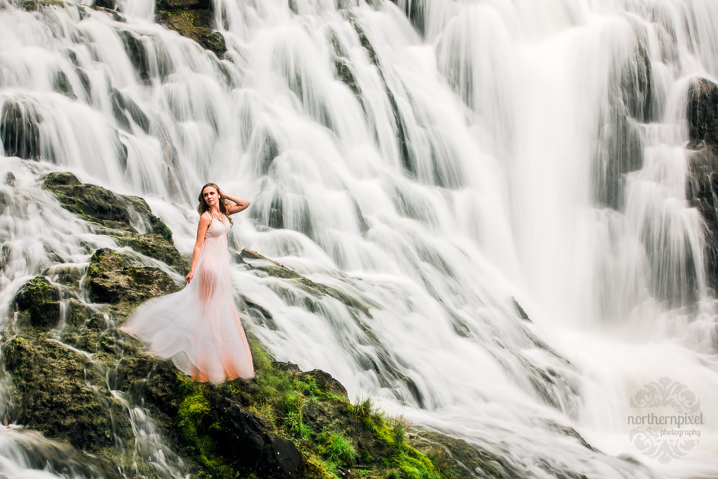 Waterfall Adventure Session - Prince George BC Elopement Photographer