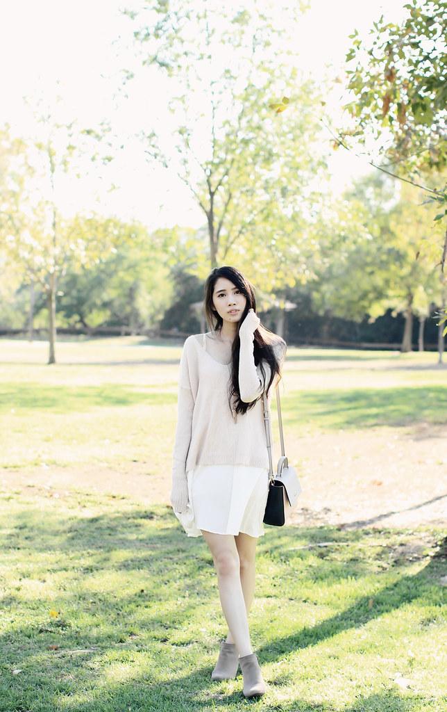 0734-fallfashion-autumn-white-dress-pink-sweater-knit-fall-bohemian-boho