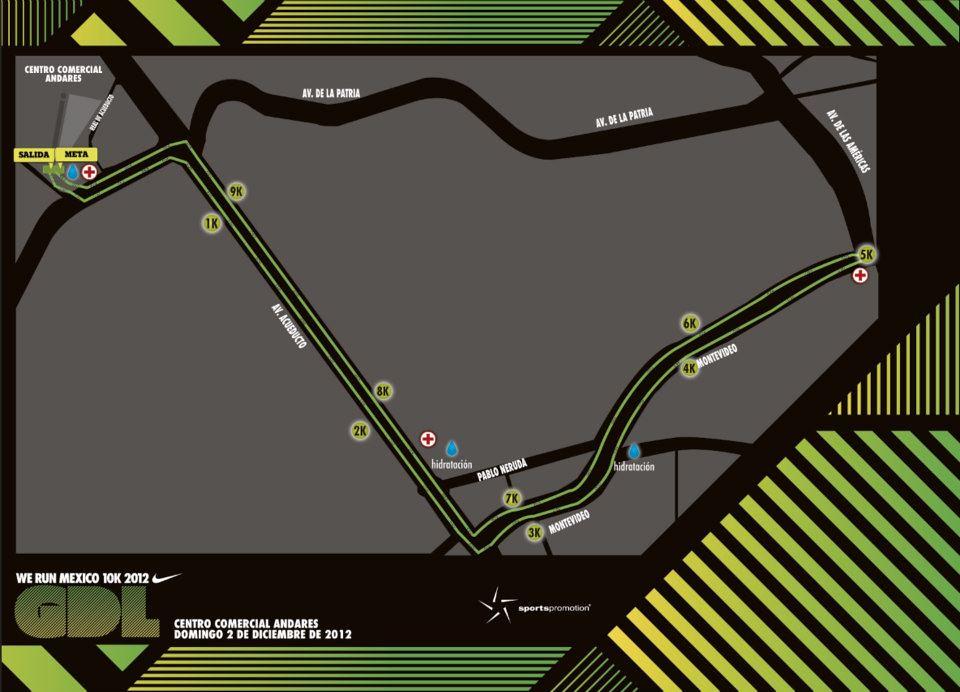 ... Ruta carrera Nike We Run Mexico 2012 - Guadalajara  c4cd683ca5992