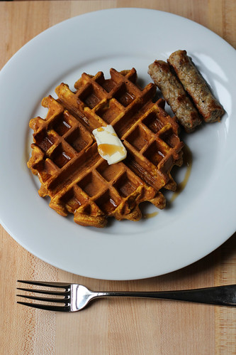 pumpkin waffles | by awhiskandaspoon
