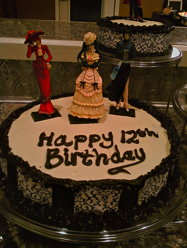 Black Butler Birthday Cake Madame Red Robin And Lau Flickr
