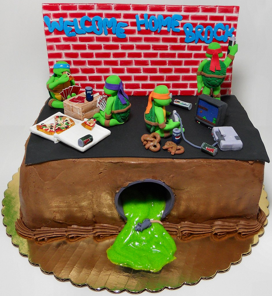 Homemade Ninja Turtle Cake Ideas
