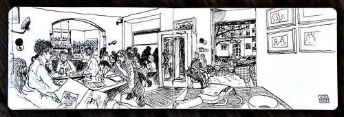 cafe fleury berlin sketching with k one of the berlin u flickr. Black Bedroom Furniture Sets. Home Design Ideas