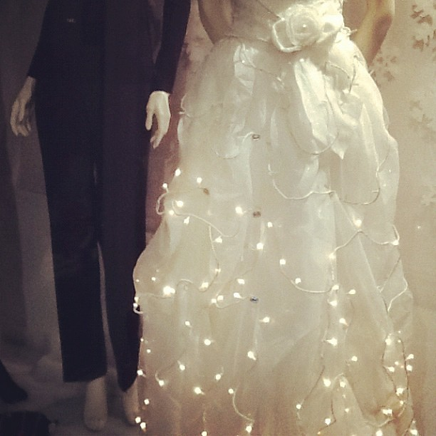 found this wedding dress with christmas fairy lights attac