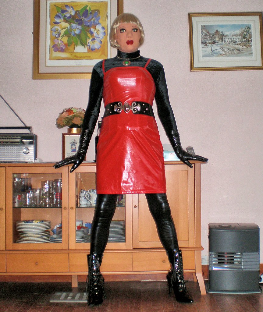 Red Pvc Dress I Really Love Red And Black Especially