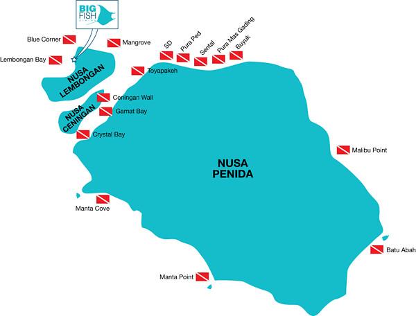 Dive site di Nusa Penida