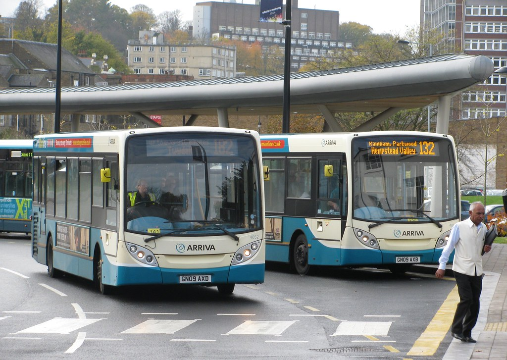 Arriva 182 And 132 Route Buses At Waterside Bus Station