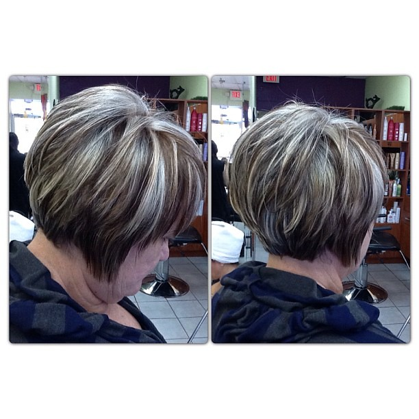 Lowlights On Gray White Hair | Short Hairstyle 2013
