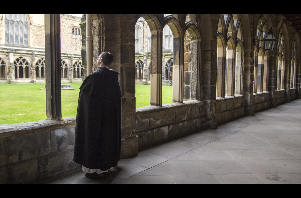 Friar In The Monks Cloister Built In The Late 12th