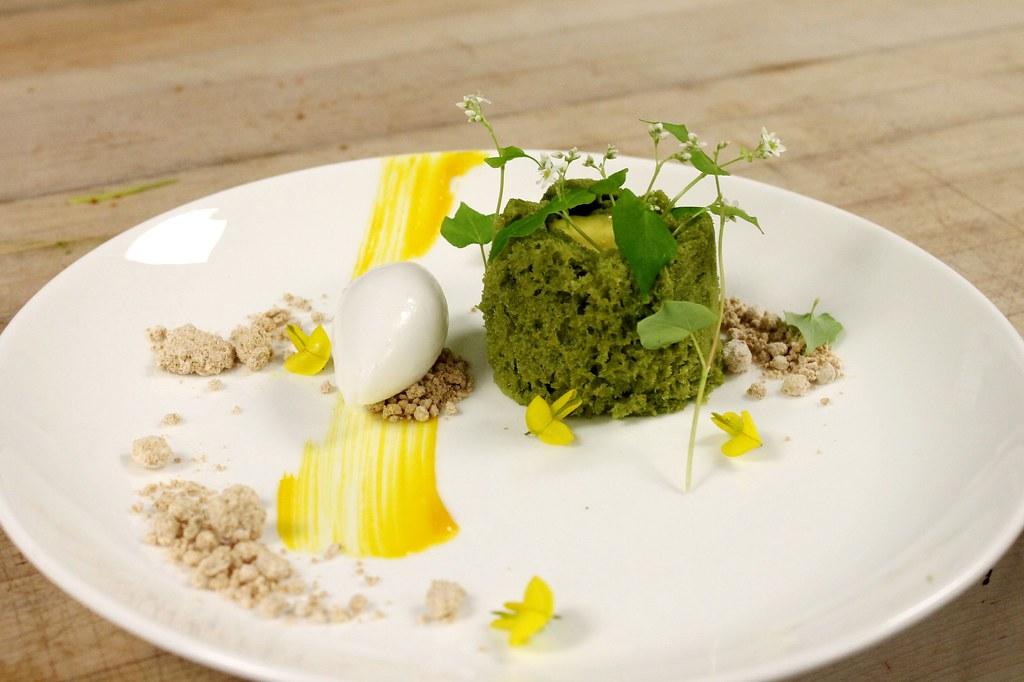 Yogurt Mousse With Pistachio Sponge Cake