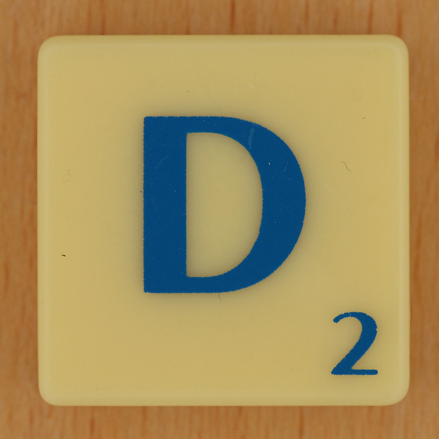 Scrabble Blue Letter D | Explore Leo Reynolds' photos on ...